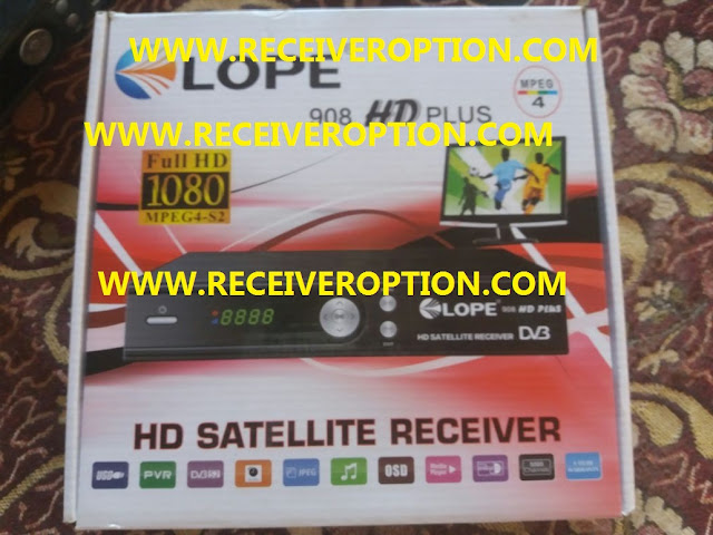 LOPE 908 HD PLUS RECEIVER POWERVU KEY FIXED NEW SOFTWARE
