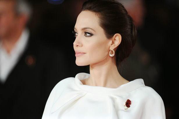 In White Dress Angelina Jolie