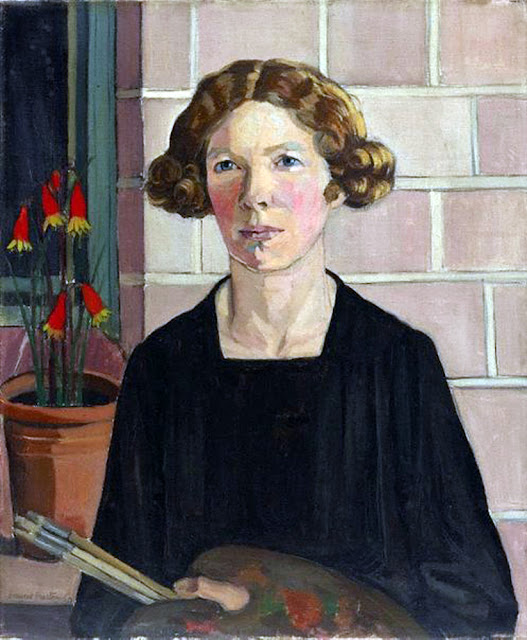 Margaret Preston, Self Portrait, Portraits of Painters, Fine arts, Portraits of painters blog, Paintings of Margaret Preston, Painter Margaret Preston