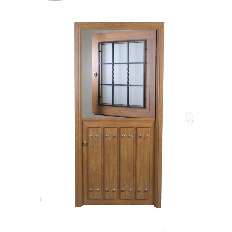 Modelos de puerta r stica for Puertas de entrada de aluminio rusticas