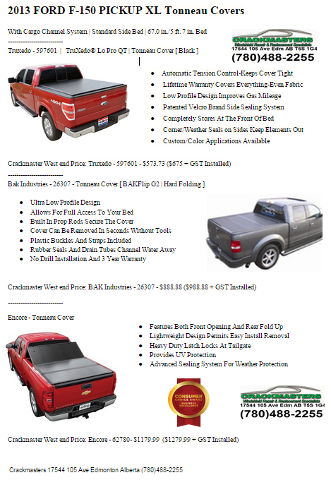 Truck box cover Edmonton