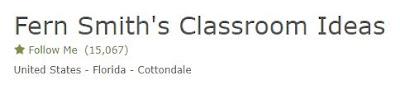 Click here to follow Fern at Fern Smith's Classroom Ideas at TpT, TeacherspayTeachers.