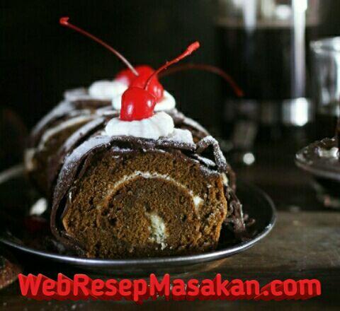Chocolate roll cake, Resep choco roll cake ekonomis,