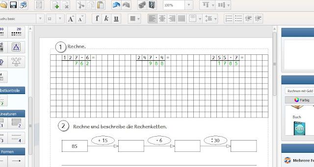 Grundschul-Ideenbox: Mini-u00dcbungsblatt Mathe