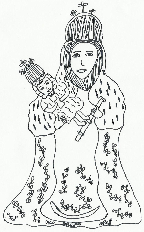 Imagenes Y Dibujos Para Colorear Dibujo De La Virgen De La