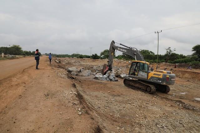 Ujenzi Barabara Bariadi Hadi Maswa Mkoani Simiyu.