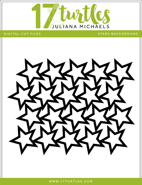 Stars Background Free Digital Cut File by Juliana Michaels 17turtles.com