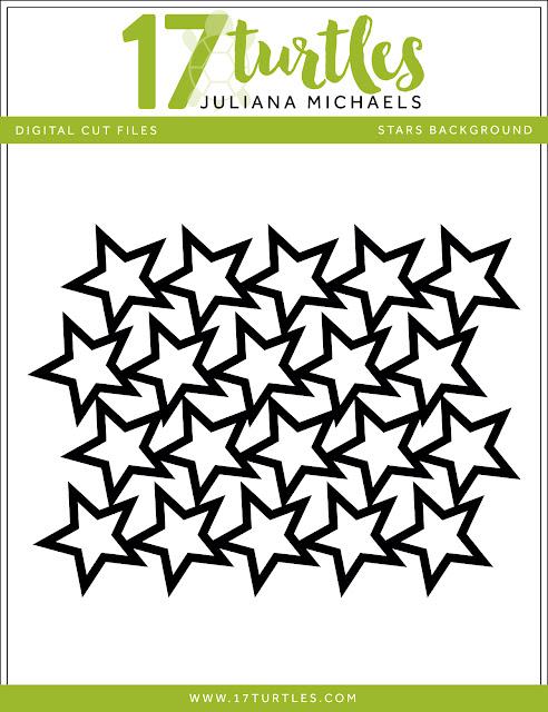 Stars Background Free Digital Cut File by Juliana Michaels 17turtles.com
