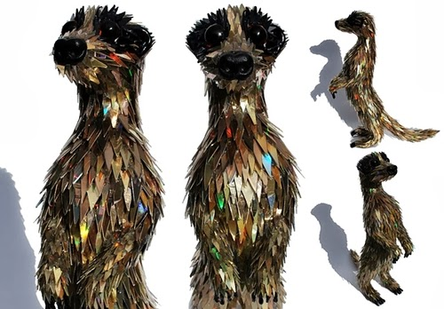 07-Meerkat-Recycled-DVD-Art-Multi-Discipline-Artist-Sean-Edward-Avery-Writer-Illustrator-Graphic-Designer-And-Sculptor-www-designstack-co