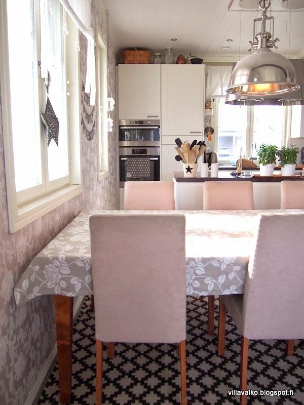 Keittiössä jotain uutta ja jotain vanhaa  Villa Valko