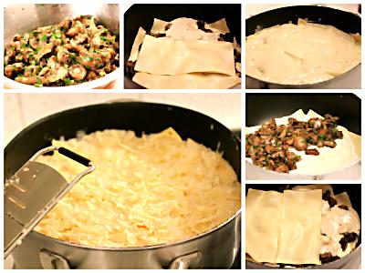 Zubereitung der Lasagne mit Käse und Pilzen nach Yotam Ottolenghi | Arthurs Tochter Kocht von Astrid Paul