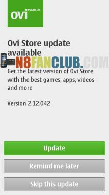 Ovi Store Updated to v2 12 042 - Symbian^3 and Symbian Anna
