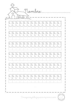 Caligrafia para imprimir vocales