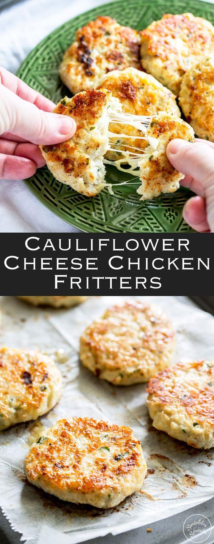 Cauliflower Cheese Chicken Fritters