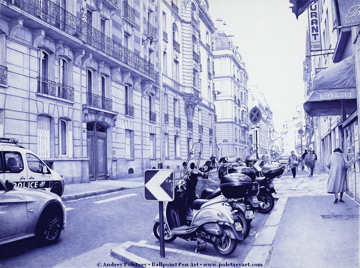 05-Streets-in-Paris-Andrey-Poletaev-Detailed-Urban-Drawings-achieved-with-a-Ballpoint-Pen-www-designstack-co