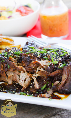 Asian Apricot Glazed Crock Pot Pork Tenderloin @ menumusings.com