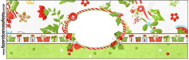 Flores de Navidad: Etiquetas para Candy Bar para Imprimir Gratis