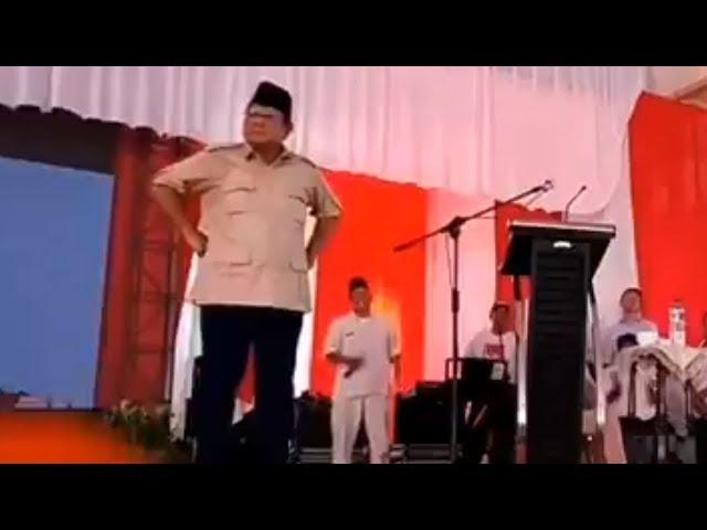 Video Prabowo Berjoget Usai Sebut Ada Wartawan yang Khusus Menunggu Dia Salah Bicara