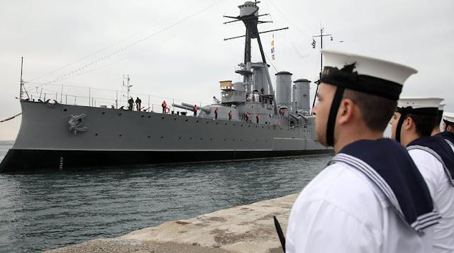 """Θωρηκτό ΑΒΕΡΩΦ: Ανακηρύχθηκε """"Πλοίο της χρονιάς"""" - ΦΩΤΟ"""