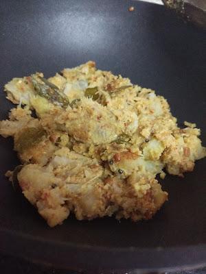 Raw banana palya / balekayi sambar palya