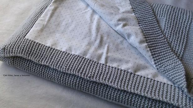 Con hilos, lanas y botones: DIY Manta de punto para bebé paso a paso (patrón gratis)