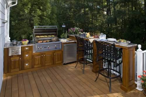 desain dapur luar rumah