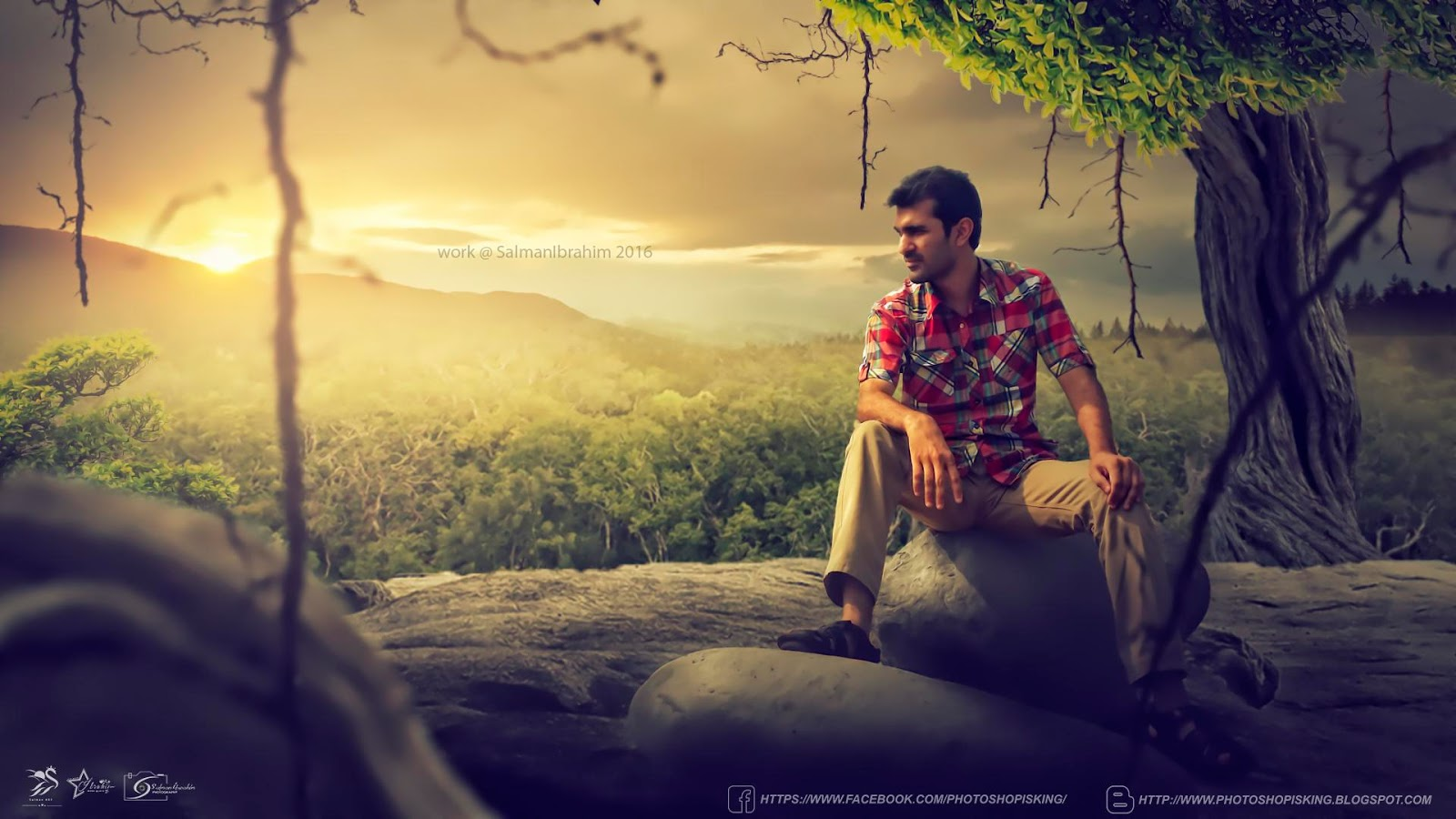 Click Here Download PSD One Night In Jungle Photo Effect