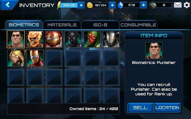 Marvel Future Fight - Biometric Locations
