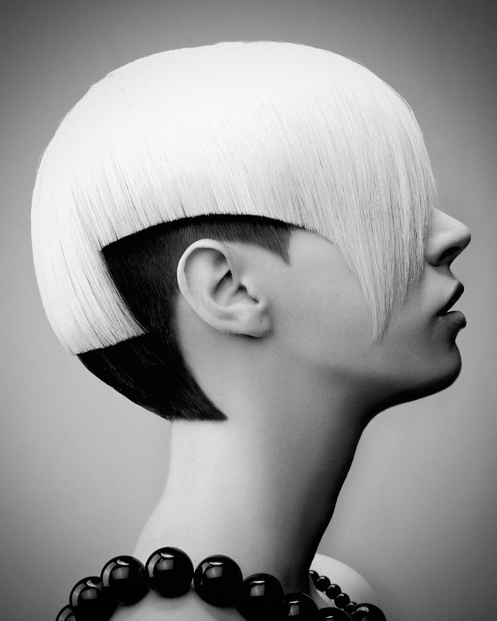 Cara Fielder with hair by Jamie Stevens for British Hairdresser of the Year