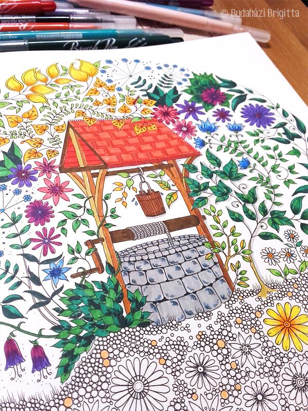 Budaházi Brigitta: Felnőttes színezés ecsetfilcekkel | Ünnepeld az élted
