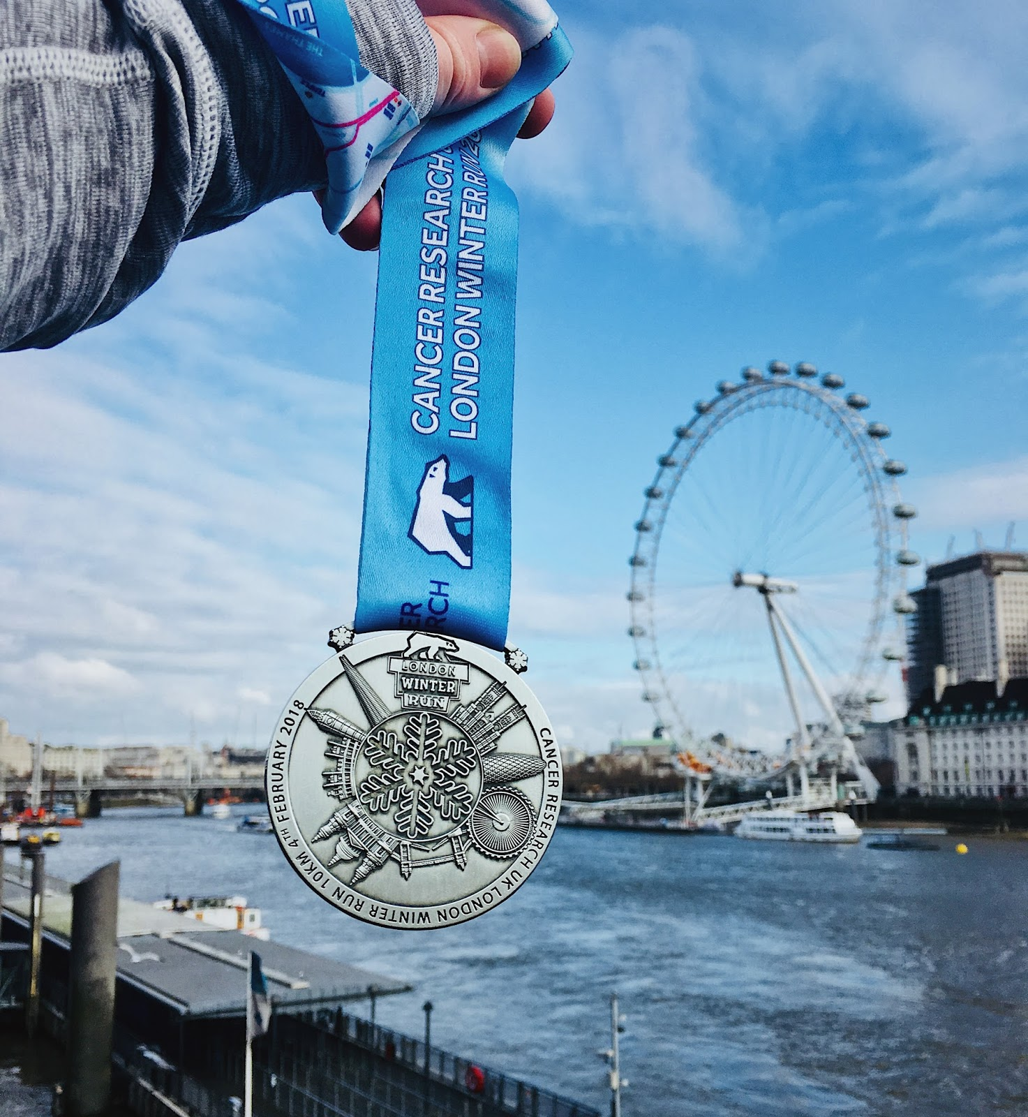 London Winter Run Medal Medaille