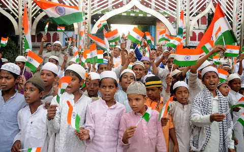 Indian Muslim Celebrate Independence Day images