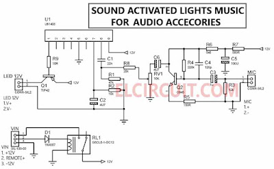 Sound activated 12V LED Lights