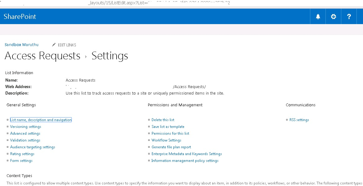 How To Access To Access Request List In Sharepoint Online All