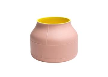 Rosa trifft Sonnengelb: Keramikvase von Bitossi