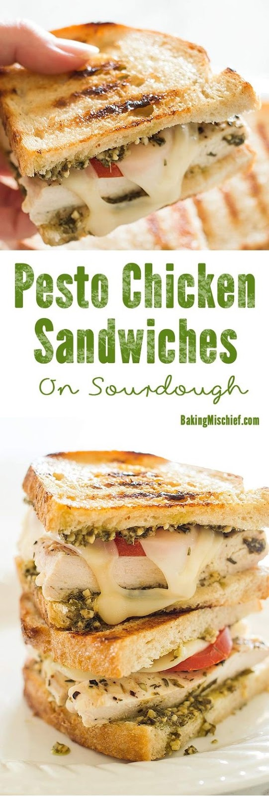 Pesto Chicken Sandwich On Sourdough