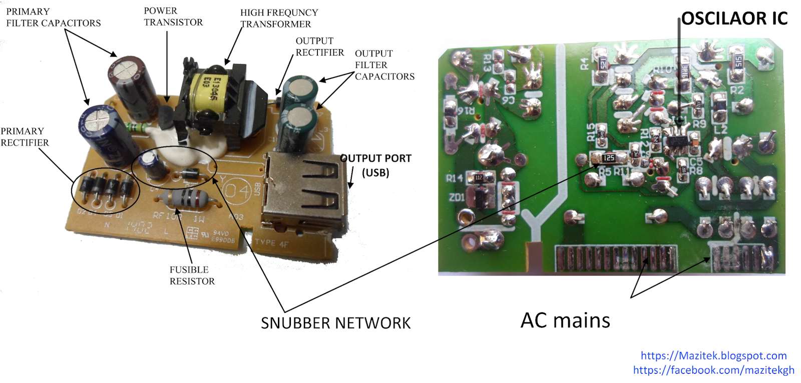 Inside A Mobile Phone Chargerflyback Converters Mazitek Electronics Figure 2 Schematic Diagram Of Transformer Charger Circuit Board