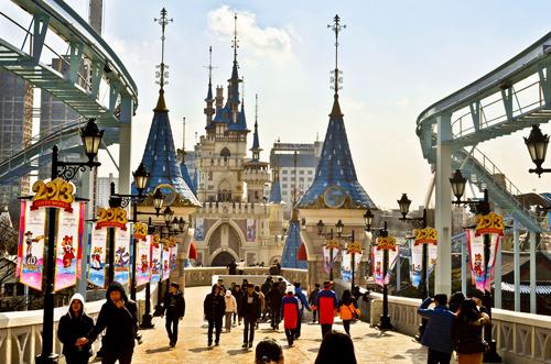 Du lịch Hàn Quốc vui chơi tại Lotte World