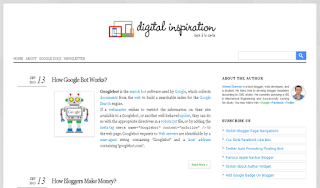 Digital Inspiration Pure Blogger Template