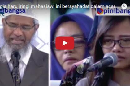 Video Tangis Haru, Mahasiswi Ini Langsung Berkerudung Setelah Bersyahadat di Acara Dr Zakir