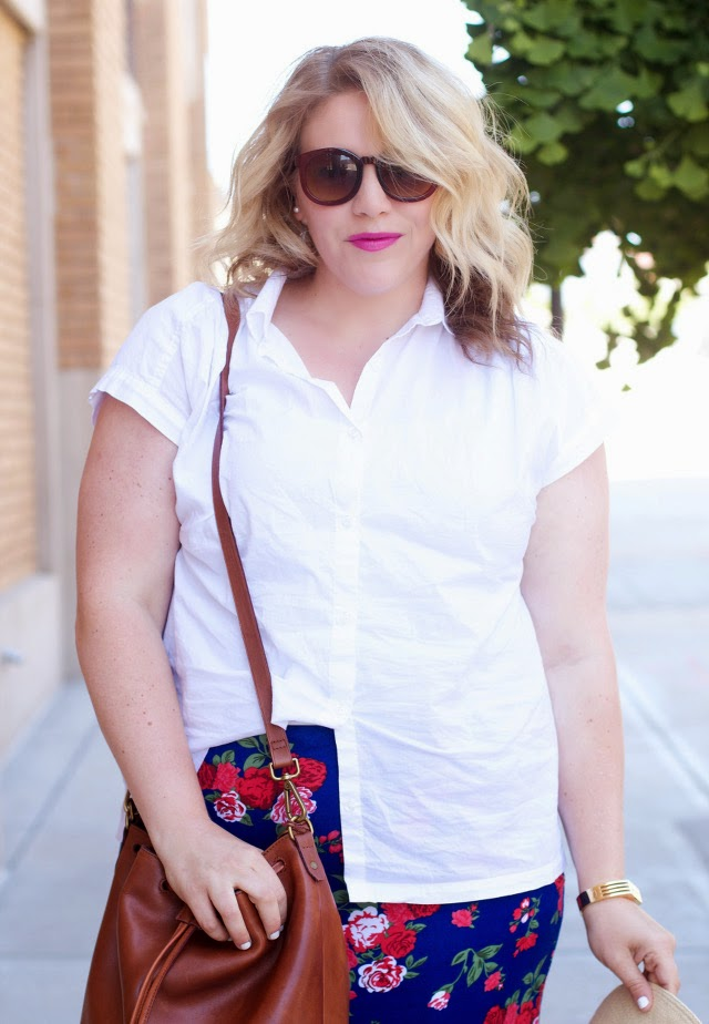White blouse summer outfit