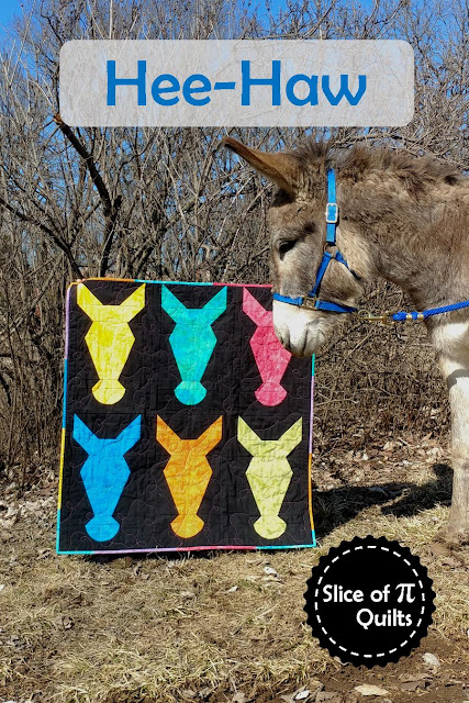Hee-Haw donkey quilt pattern by Slice of Pi Quilts