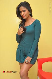 Telugu Actress Prasanthi Stills in Green Short Dress at Swachh Hyderabad Cricket Press Meet  0028.JPG