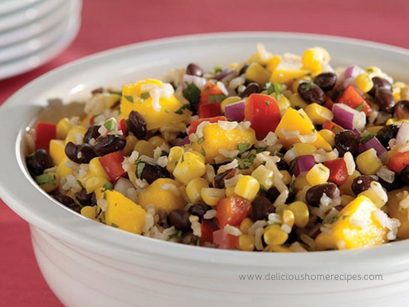 Black Beans Rice With Mango