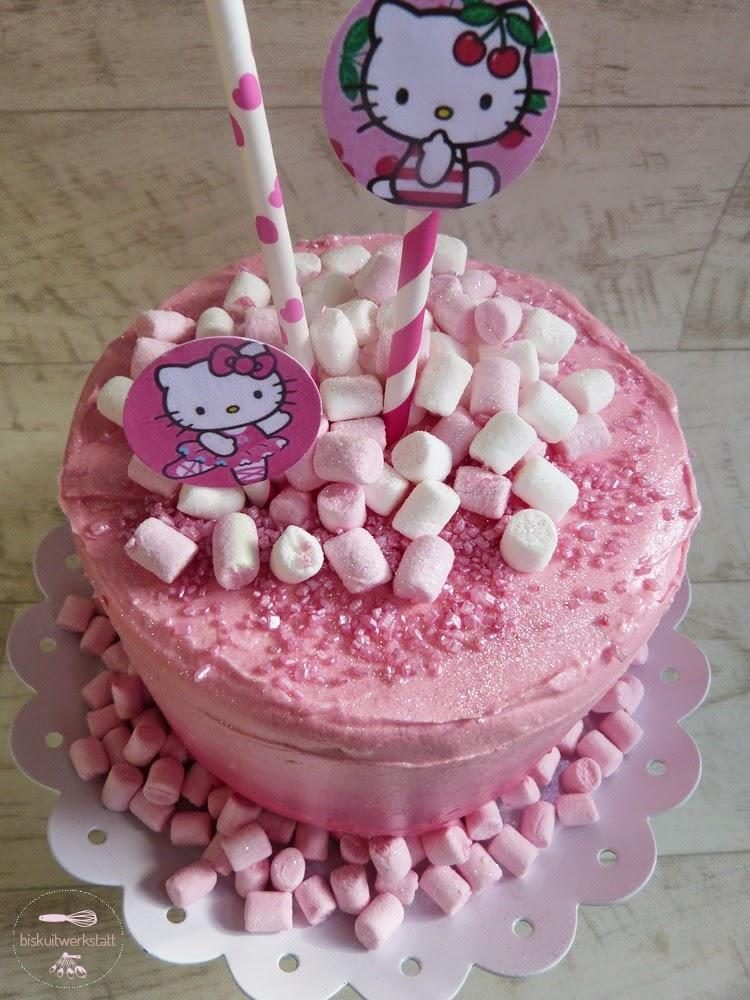 Hello Kitty Layer Cake Mit Ombre Frischkase Frosting Und Viiiiiel