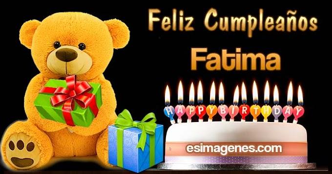 Feliz cumpleaños Fatima