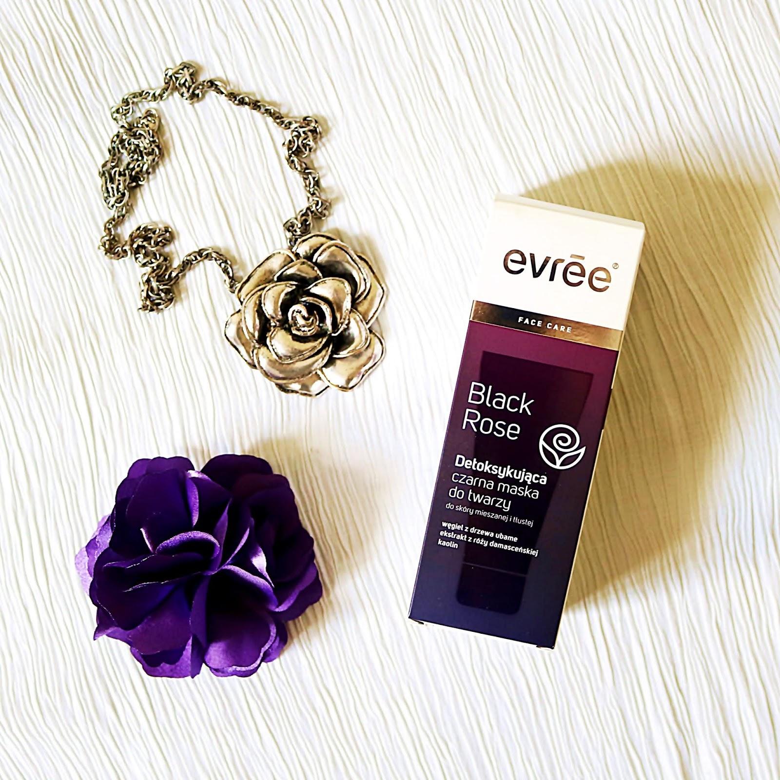 EVREE - Black Rose, detoksykująca czarna maska do twarzy