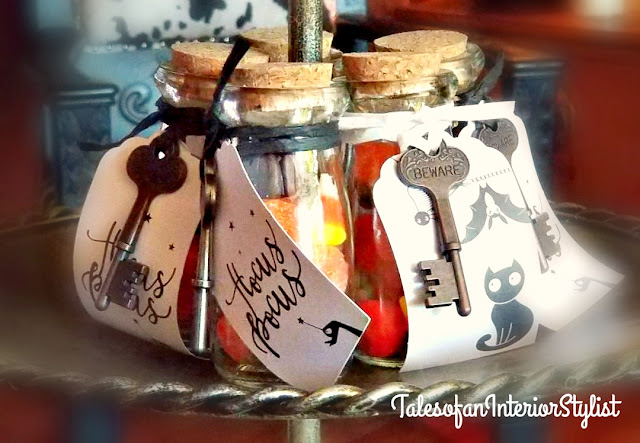 Witches Tea Party - Milk Bottle Party Favors