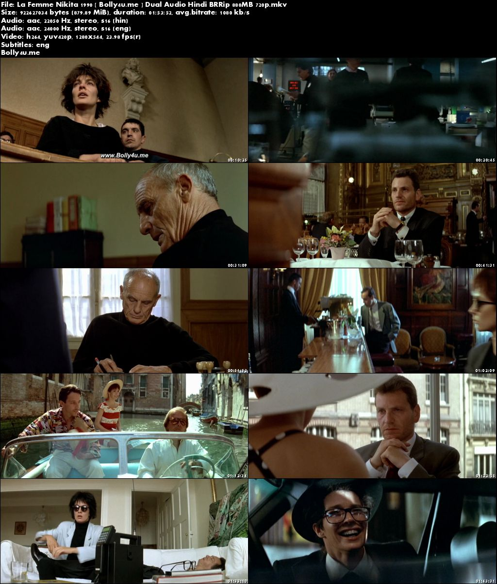 La Femme Nikita 1990 BRRip 850MB Hindi Dual Audio 720p ESub Download