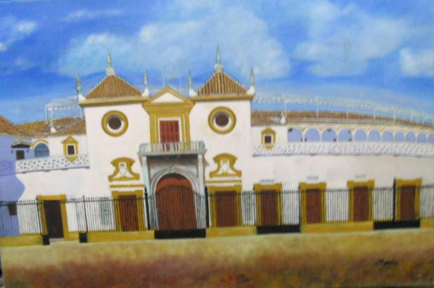 Pintor Jos 233 Mor 243 N Romero Vista Plaza De Toros De Sevilla